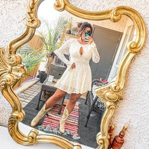 Free People cream teen witch sleeves dress